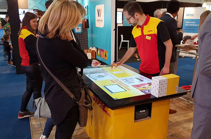 DHL touch table Prestop
