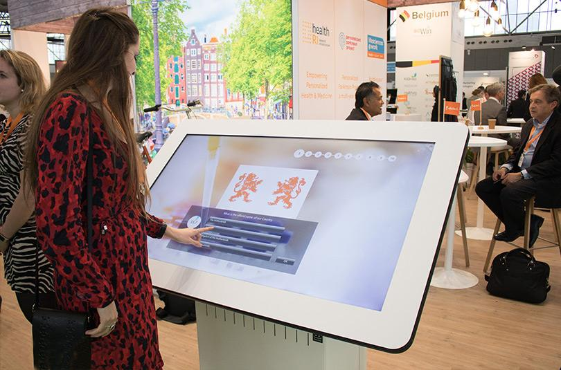 Prestop touchscreen table for Health Holland