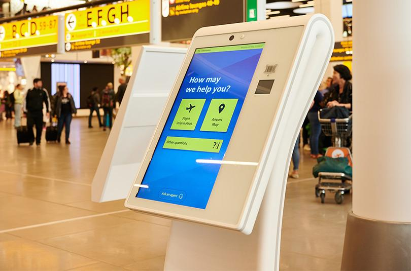 Schiphol Kiosk Self-Service Information Points