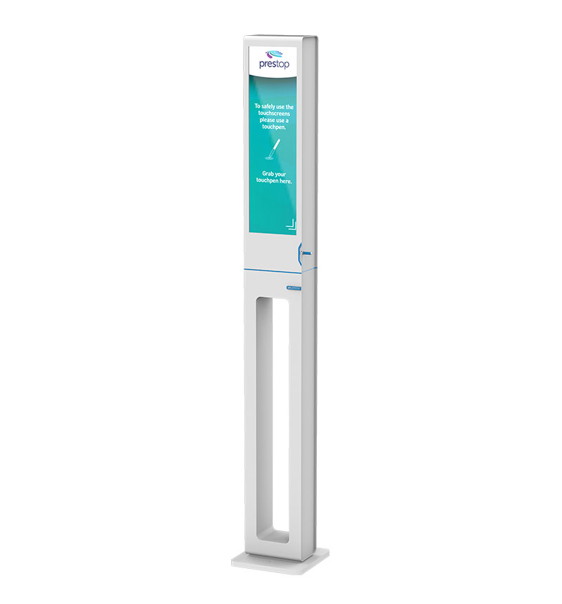 "29"" (touch)screen Kiosk Pen dispenser"