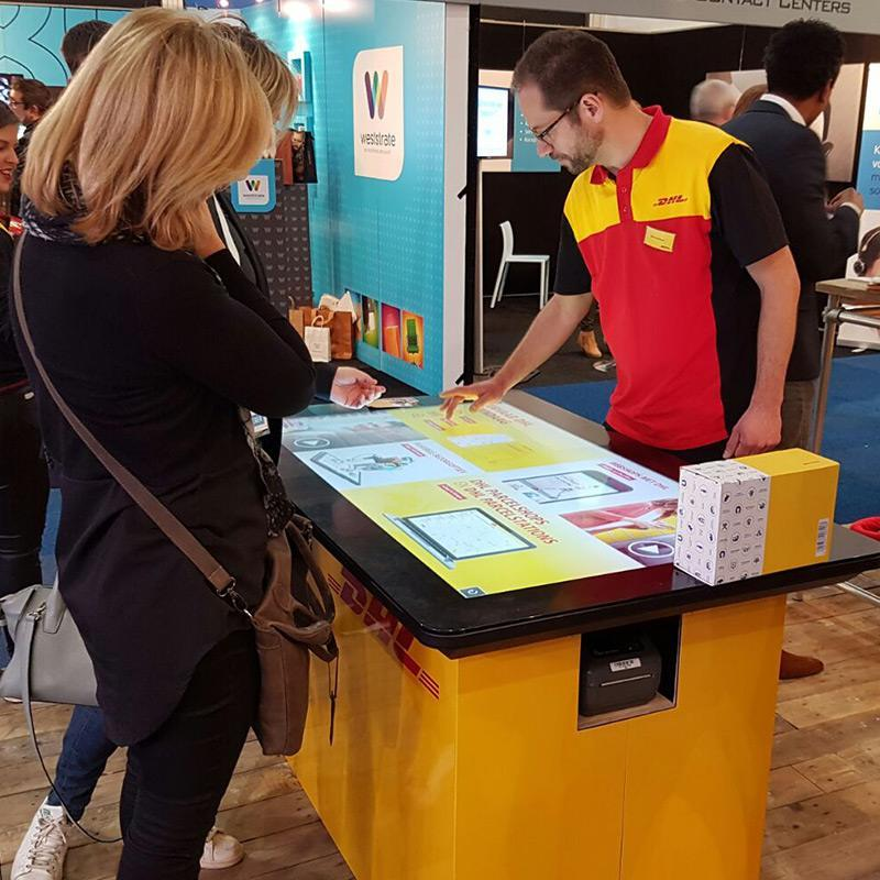 Prestop touch table DHL