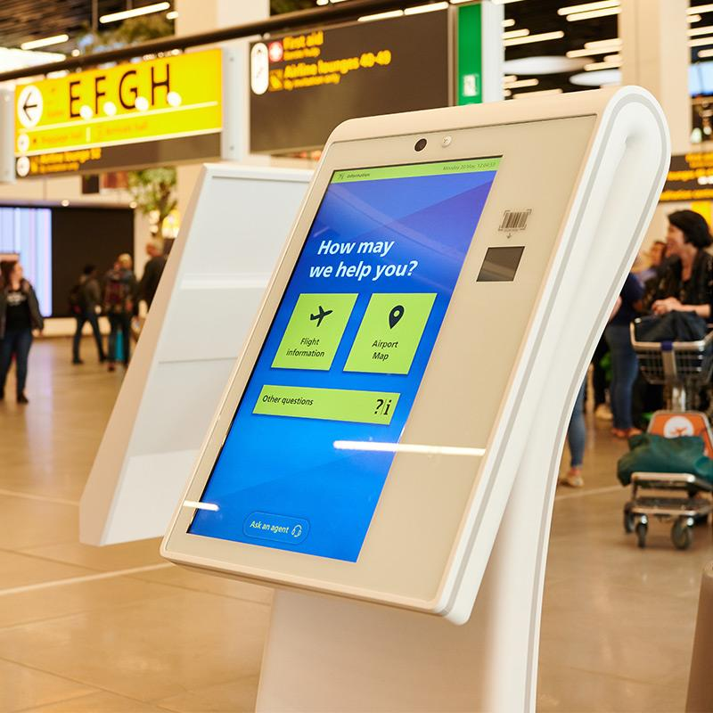 Schiphol Kiosk Self-Service Information Point
