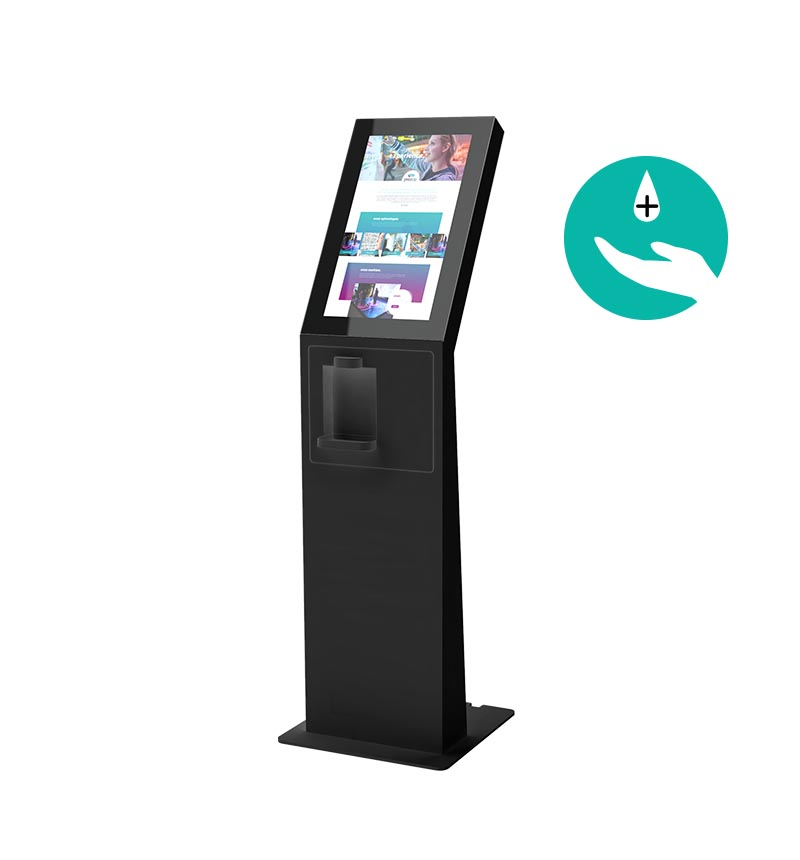 "Kiosk Eminent M 24"" P Disinfection Black Kopie"
