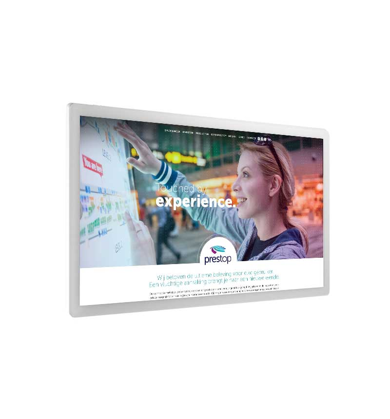 "Touchscreen 55"" White"