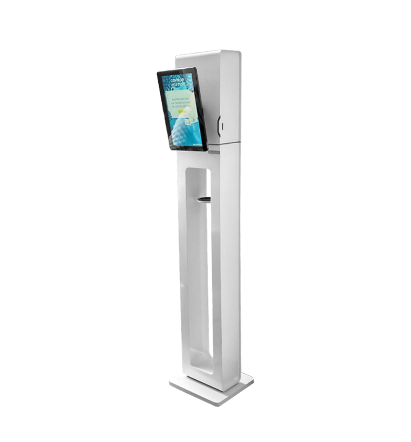 "10""-13"" (touch)screen Kiosk & Gel dispenser"