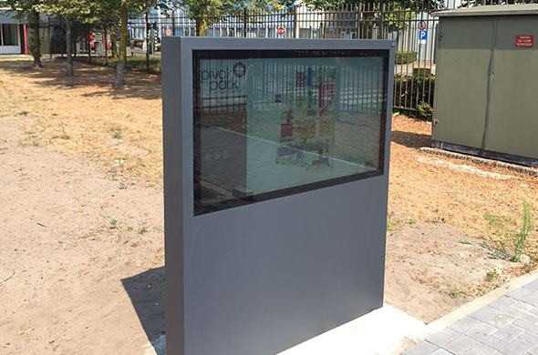 Wayfinding kiosks for Pivot Park