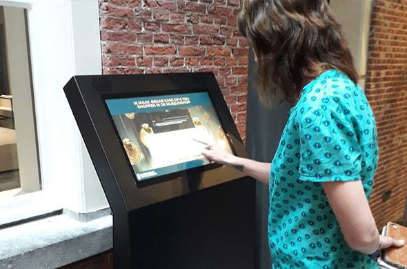 Information kiosk for the Rijksmuseum van Oudheden