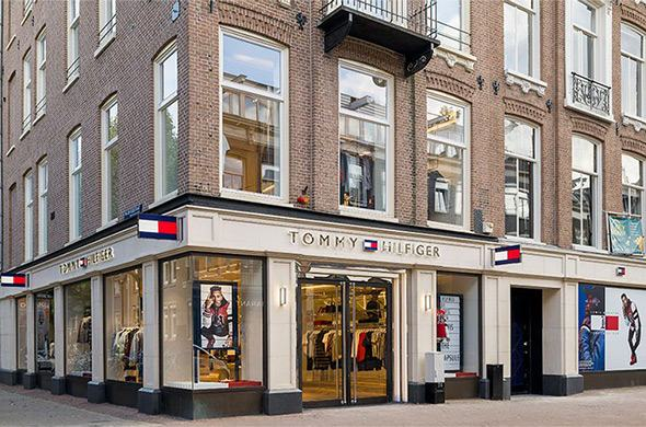 Screens, glorious screens, at Tommy Hilfiger's store of the future in Amsterdam