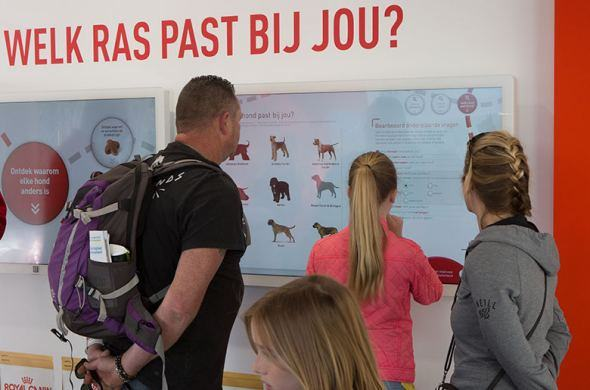 Interactive solutions for Royal Canin during the animal event