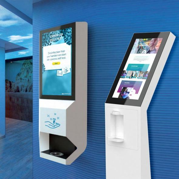 Desinfection kiosks and self-test