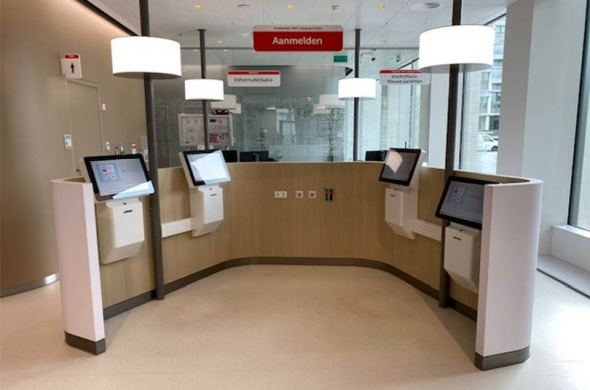 Registration kiosks for Amsterdam UMC Imaging Center