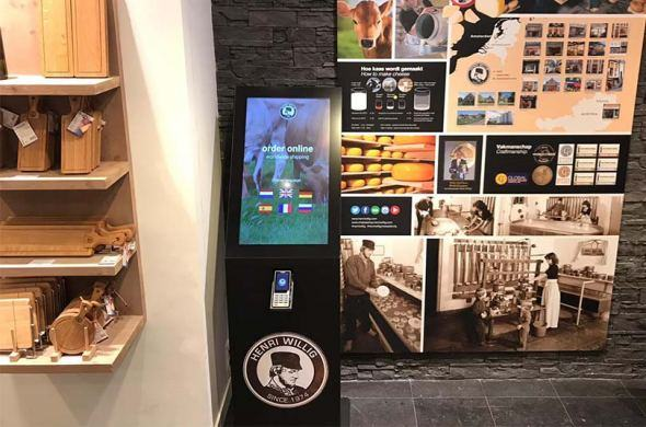 Order kiosks for cheese stores in Amsterdam