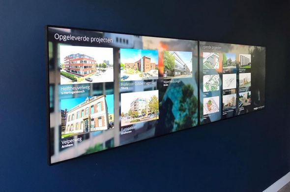 Touch video wall used as a presentation tool