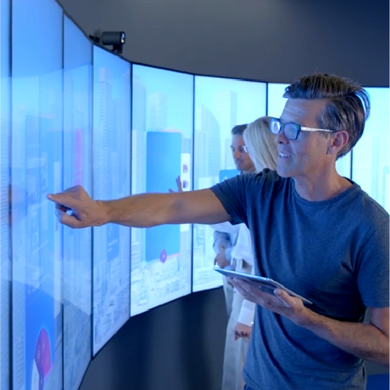 Curved touch video wall (new)